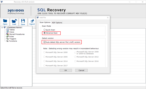 SysTools SQL Recovery截图4