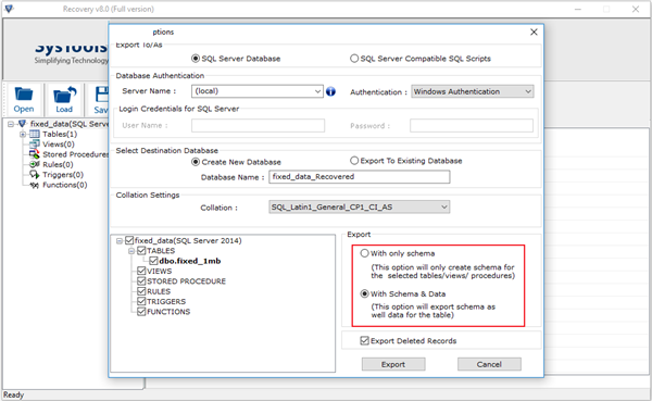 SysTools SQL Recovery截图2